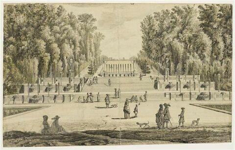 Château de Vaux-le-Vicomte, vue des Petites Cascades