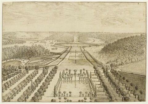Vue de la grande perspective de Meudon depuis l'orangerie