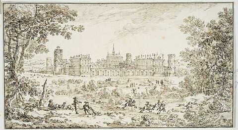 Vue du château de Vincennes du côté de l'entrée