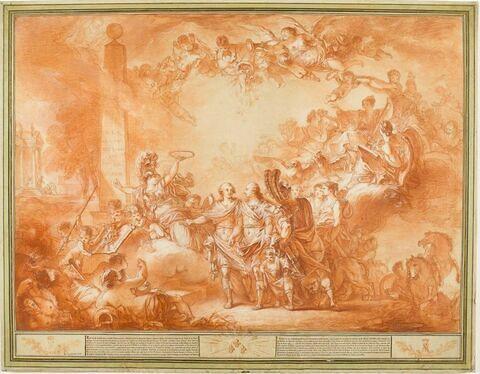 Allégorie relative à l'entrevue de Joseph II et de Louis XVI