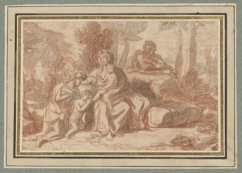 La Sainte Famille avec sainte Elisabeth et le petit saint Jean