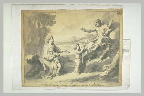 Sircé présente ses deux petits enfants à Jupiter