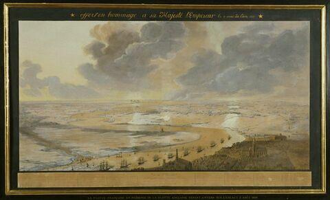 Vue de l'Escaut et des forces anglaises, en 1809
