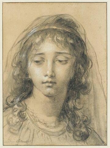Jeune fille portant un voile