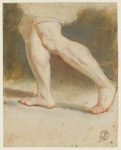 Homme vu de dos et étude de jambes