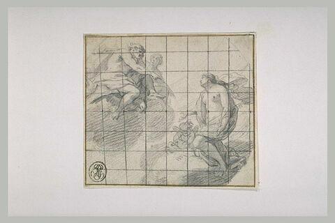 Jupiter et Junon acceuillant une femme conduite par un amour