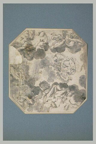 Etude pour un plafond : Les Noces d'Hercule et d'Hébé