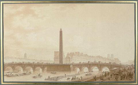 Projet d'obélisque sur le pont Neuf