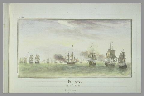 Campagnes de Duguay-Trouin : prise d'un vaisseau portugais, 1706