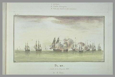 Campagnes de Duguay-Trouin : attaque d'une flotte portugaise, 1706