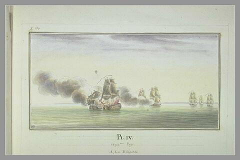 Campagnes de Duguay-Trouin : combat de la Diligente contre des vaisseaux