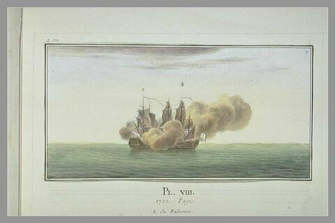 Campagnes de Duguay-Trouin : prise d'un vaisseau de guerre hollandais