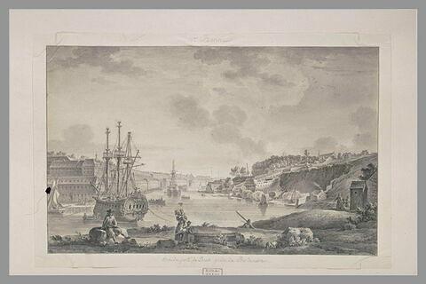 Vue du port de Brest prise de Bordenave