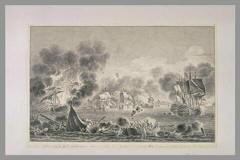 Deuxième vue du combat de Tchesmé, 1770