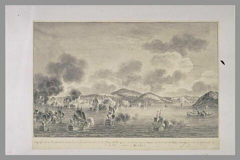Troisième vue du combat de Tchesmé, 1770