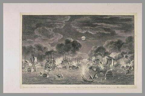 Cinquième vue du combat de Tchesmé, 1770