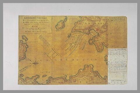 Carte et plan explicatifs du combat de Tchesmé, 1770