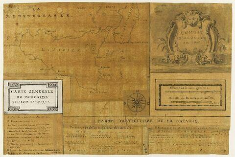 Carte indicative de la campagne de Sicile, 1676