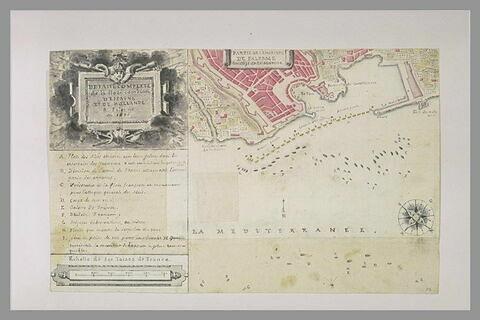 Plan explicatif du combat de Palerme, 1676