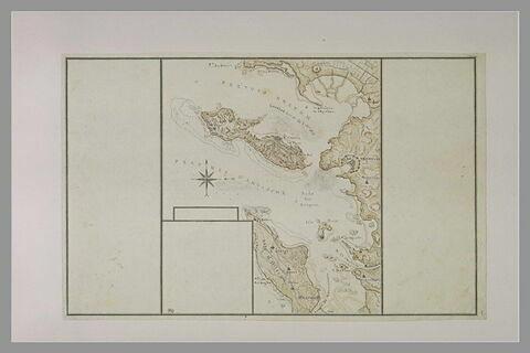Carte explicative du combat livré aux Rochellois devant l'île de Ré en 1625