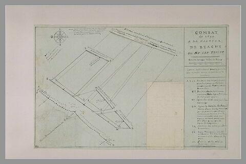 Plan explicatif du combat de Beachy Head