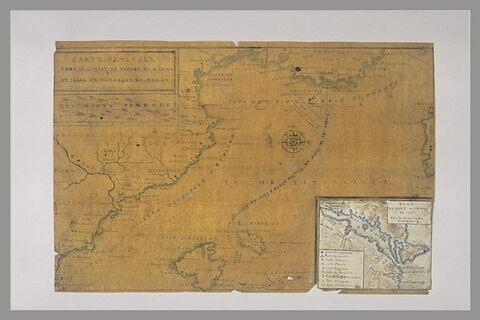 Carte explicative des combats de Toulon, en 1744 et de Minorque, en 1756