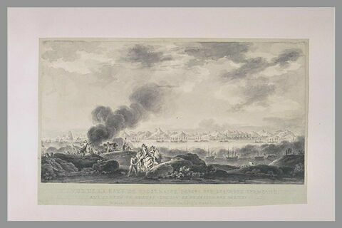 Vue de la baie de Rio de Janeiro, percée par la flotte française