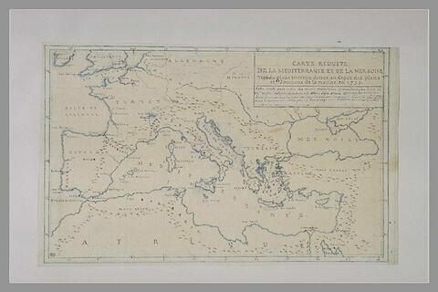 Carte réduite de la méditerannée et de la mer noire