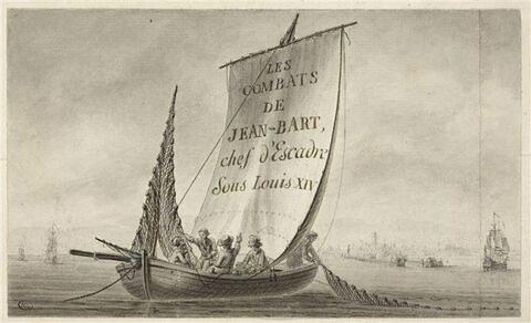 Vue de l'entrée de Dunkerque du temps de Jean Bart