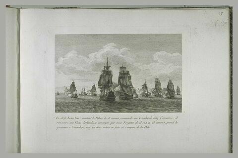 Jean Bart montant la Palme et commandant une escadre