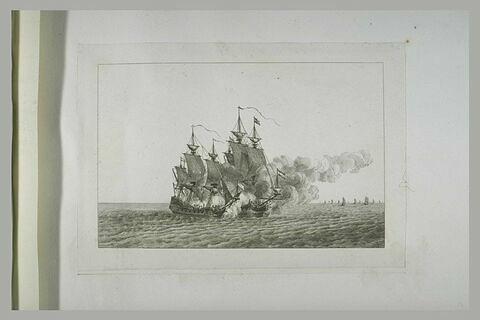 Jean Bart prend un vaisseau hollandais et plusieurs batiments marchands