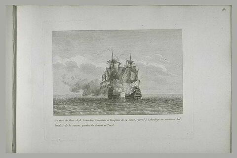 Jean Bart prend un vaisseau hollandais devant Texel, 1678
