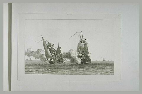 Jean Bart prend un cosaire Saletin à la paix de 1678