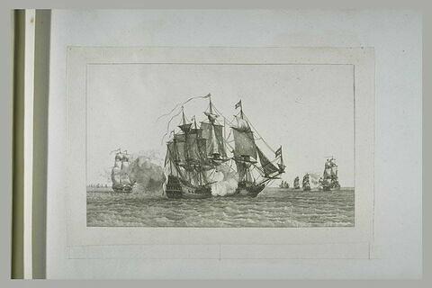 Jean Bart et Forsin convoyant une flotte du Hâvre à Brest