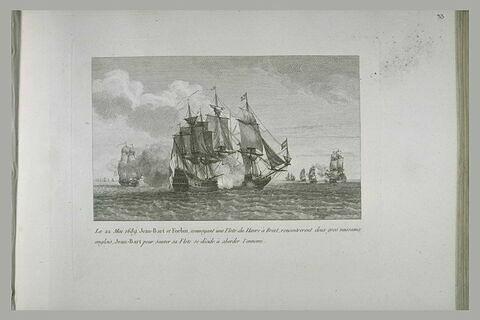 Jean Bart et Forbin convoyant une flotte du Hâvre à Brest