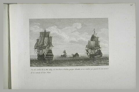 Jean bart et Forbin ne se rendant qu'après la retraite de leur flotte, 1689