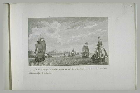 Jean Bart fait une descente près de New-Castle, 1662