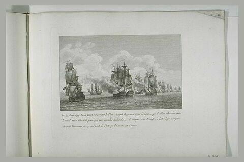 Jean bart reprend une flotte chargée de grains pour la France