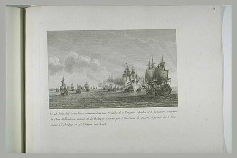 Jean Bart avec l'escadre de onze batiments rencontre une flotte hollandaise