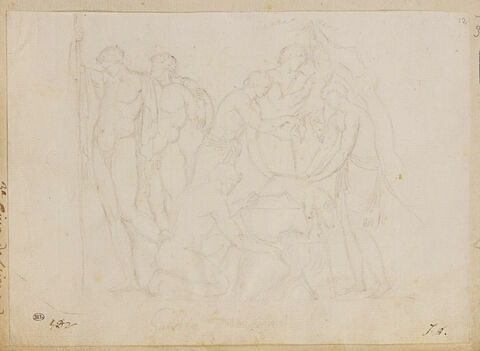 Scène de sacrifice antique
