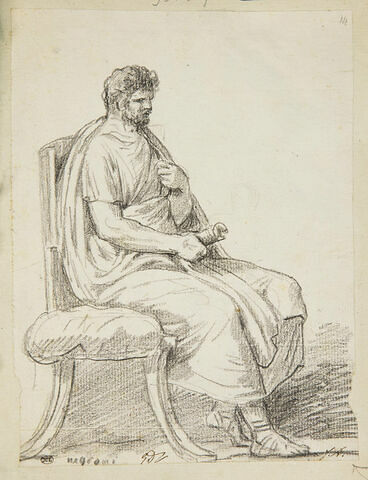 Philosophe assis