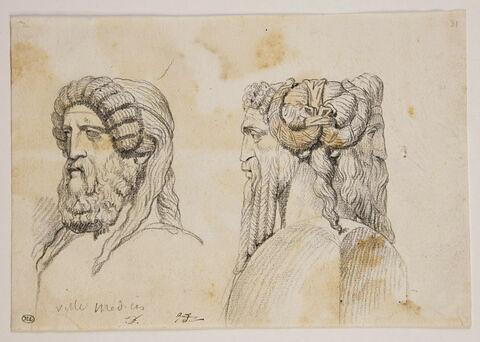 Buste de Dionysos, et buste de Jupiter-Ammon en double Hermès