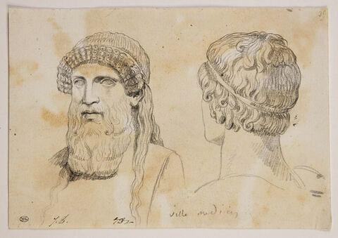 Buste de Dionysos et d'un éphèbe