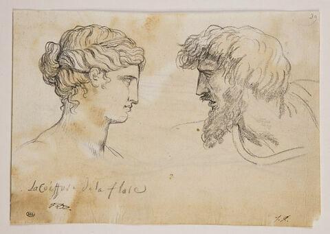 Tête de la Flore Farnèse ; tête d'homme barbu