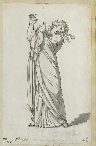Jeune fille tenant une colombe