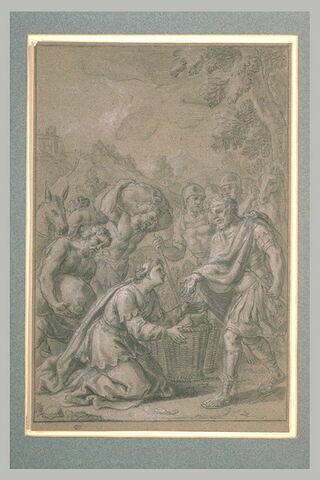 Abigaïl offrant des présents à David (?)