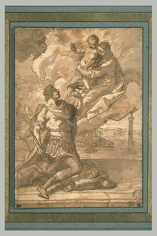 Apparition de la Vierge et l'Enfant à saint Osvald
