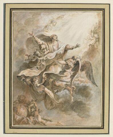 L'apothéose de saint Louis, roi de France, porté par des anges