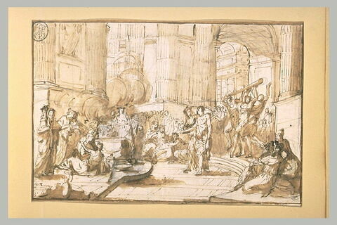 Hercule se présentant au temple de l'Hymen