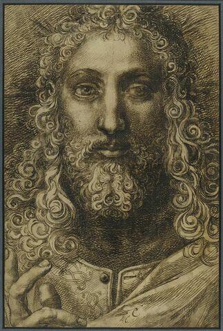 Le Christ bénissant, vu en buste